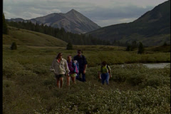 Group of people on a hike in Crested Butte. Stock Footage
