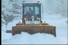 Aspen:Snowmass Footage of SnowCat plowing snow Stock Footage