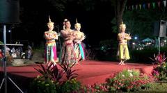 Rama ix park festival 2013 -   Thai dancers - (15 -3) Stock Footage