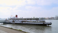 Stock Video Footage of Boat on the shore of river - Rotterdam