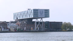 Stock Video Footage of Headquarters of Unilever - Rotterdam