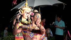 Rama ix park festival 2013 -  Thai dancers - (15 -1) Stock Footage