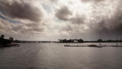 Storm Clouds approach mission bay timelapse Stock Footage