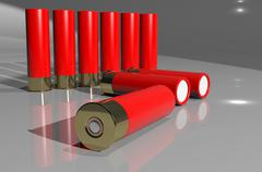 Stock Illustration of shotgun cartridge