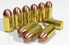Pistol cartridges Stock Illustration