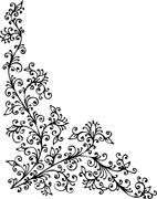 Baroque pattern vignette  Stock Illustration