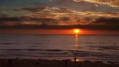 Scripps pier sunset timelapse - stock footage