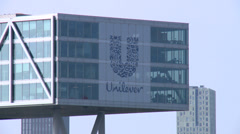 Unilever headquarters - Rotterdam - stock footage