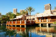 Stock Photo of view of the souk madinat jumeirah, dubai, uae