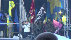 Speech of the Ukrainian Cossacks Stock Footage