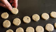 Christmas baking sweet biscuits, workflow. No.04 Stock Footage