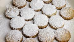 Christmas baking sweet biscuits, workflow. No.07 - stock footage