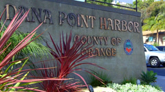 Dana Point Harbor Sign In Dana Point California Stock Footage