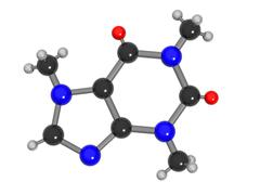 Caffeine molecule Stock Illustration