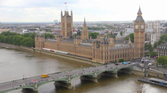Aerial view of London, England - stock footage