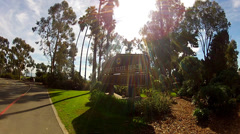 Doheny State Beach Entrance And Sign- Dana Point California Stock Footage