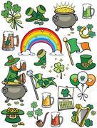 Saint Patrick's Day Elements Stock Illustration