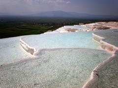 pamukkale in turkey - stock photo