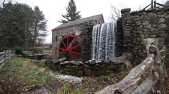 Wayside grist mill Stock Footage
