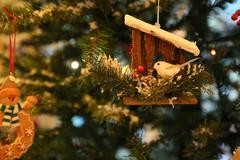 Christmas ornament hanging on the christmas tree Stock Photos