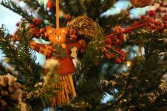 christmas and new year's ornament - stock photo