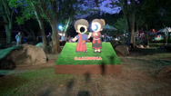 Stock Video Footage of Rama ix park festival 2013 - Cambodia sign (9-1)