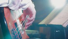Playing Bass Guitar at Jazz Concert HD - stock footage