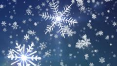 Snowy1 - New Edition - Snow / Christmas Video Background Loop Stock Footage