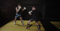 Mixed Martial Arts Fighters in the Ring - stock footage