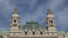 Palace Casino Monte Carlo Monaco Grand Theatre Les Ballets Building luxury day Stock Footage