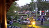 Stock Video Footage of Rama ix park festival 2013 - Busy Footbridge (59-1)
