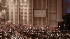 Mormon LDS Conference Center seating before Christmas program HD 0437 Stock Footage