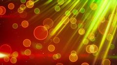 Green red blinking bokeh lights loop Stock Footage