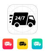 Delivery support seven days a week icon. Stock Illustration