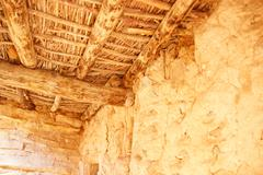 Interior of anasazi pueblo Stock Photos