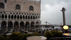 Venice Doge's Palace St Marks Square Timelapse 2 Stock Footage