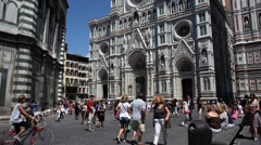 Florence Piazza Del Duomo Timelapse Stock Footage