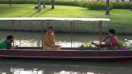 Stock Video Footage of Rama ix park festival 2013 - Muslim compare in boat (44)