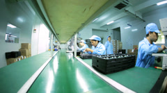 Chinese worker factory production of PCBs, Mainland China Stock Footage
