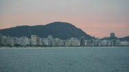 Stock Video Footage of Panning Copacabana Beach and Sugarloaf, Rio de Janeiro