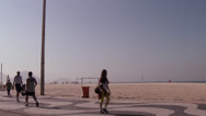 Stock Video Footage of People walking at the Copacabana Beach sidewalk, Rio de Janeiro