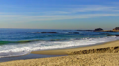 Pacific Ocean And Rocky Coastal Beach- Aliso Beach- Laguna Beach CA Stock Footage