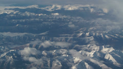 Aerial view of Himalaya mount, Tibet Stock Footage