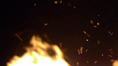 Fire and Sparks - stock footage