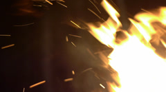 Fire with sparks - stock footage