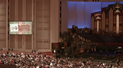 Mormon Tabernacle Choir concert LDS church HD 0448 Stock Footage