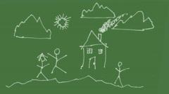 Kids drawing draw Stock Footage