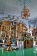 Interior of the orthodox church Stock Photos