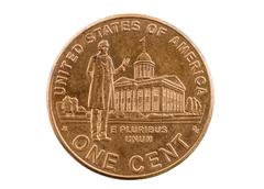 Stock Photo of lincoln indiana legislature penny