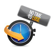 No time to lose concept illustration Stock Illustration